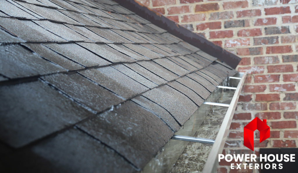 Rain Washing Roof Shingles